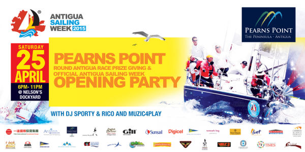 Pearns Point Round Antigua Race Prize Giving and Official Antigua Sailing Week Opening Party @ English Harbour | Saint Paul | Antigua and Barbuda