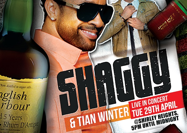 English Harbour 5 Year Old Rum celebrates Diamond Sponsorship with Shaggy