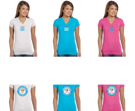 S/Sl Womens V Neck T-Shirt – Aqua