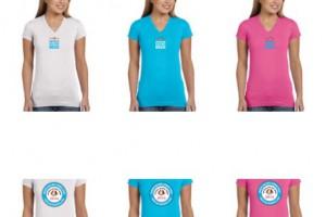 S/Sl Womens V Neck T-Shirt – White