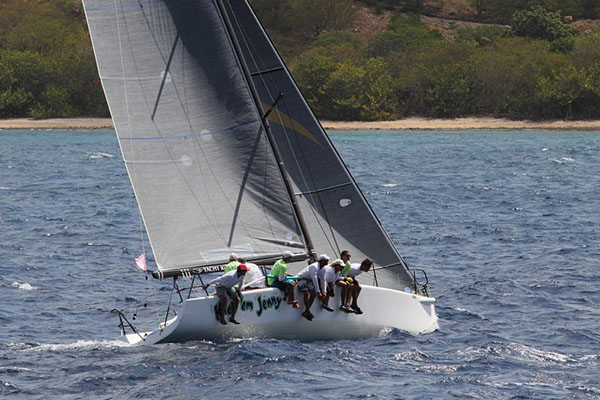 Kick 'em Jenny 2, Ian Hope Ross' Melges 32 wins CSA 4 in the AUA College of Medicine Race Day  Credit: Tim Wright/Photoaction.com/Antigua Sailing Week