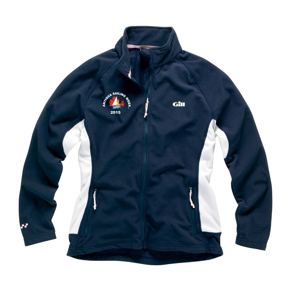 Womens Grid Microfleece Jacket Copy