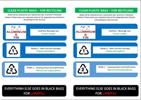 Antigua Sailing Week: Recycling Instructions
