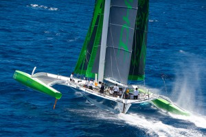 VIDEO – Pearns Point Round Antigua Race Phaedo^3 Sets New Race Record