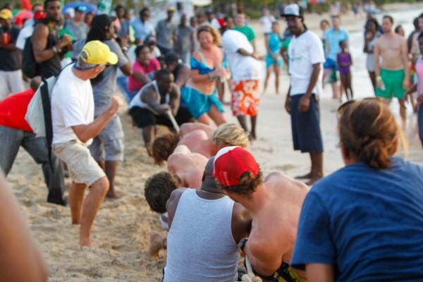 Lay Day during Antigua Sailing week 2015,Pigeon Beach,