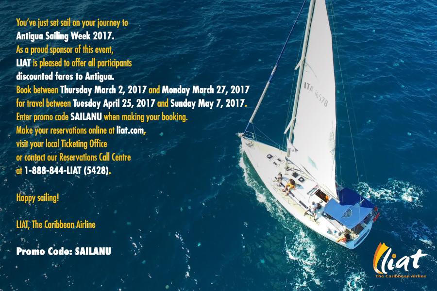LIAT Offers Discounted Fares to Antigua for Antigua Sailing Week
