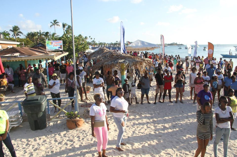 HUNDREDS TURN OUT FOR DICKENSON BAY BEACH BASH