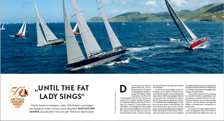 Antigua Sailing Week 50th Inside Yachting Magazine German Publication