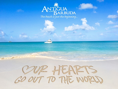 ANTIGUA AND BARBUDA SHARES ENCOURAGING 'MESSAGES IN THE SAND'