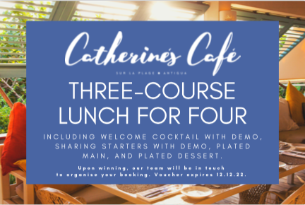Chic beach lunch at Catherine's Café